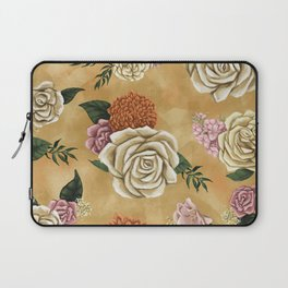 Gold luxury floral Laptop Sleeve
