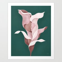 Arum-lily day Art Print