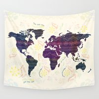map Wall Tapestries featuring Map by famenxt