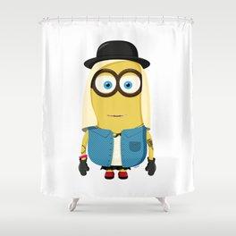 Hipster Girl Minion Shower Curtain