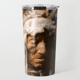 Lean Wolf - Hidatsa - American Indian Travel Mug