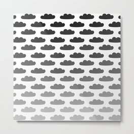 Cloud Gradient Pattern Metal Print