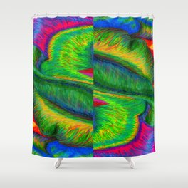 Zig When You Can Zag Shower Curtain