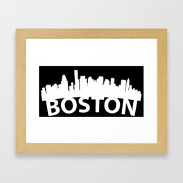 Curved Skyline Of Boston MA Framed Art Print