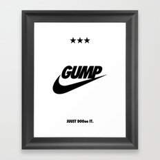 Gump Just Do It Framed Art Print