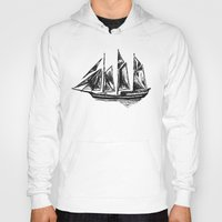 ship Hoodies featuring Ship by LeahOwen
