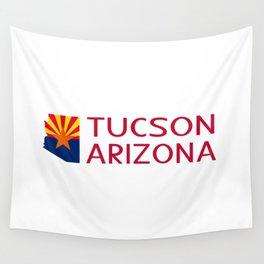 Arizona: Tucson (State Shape & Flag) Wall Tapestry