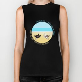 Frenchies Rolling In The Sand Biker Tank