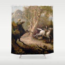 Vintage Art of Sleepy Hollow  Shower Curtain
