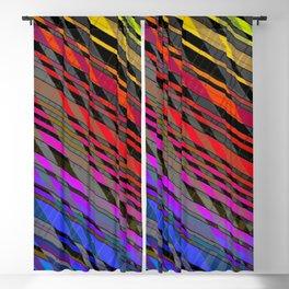broken stripes Blackout Curtain