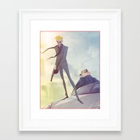 hobbes Framed Art Prints featuring Secret Agent Calvin Hobbes by Coran Kizer Stone