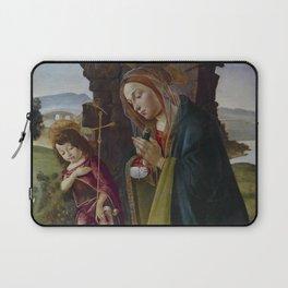 "Sandro Botticelli ""Adoration of Christ with Saint John"" Laptop Sleeve"