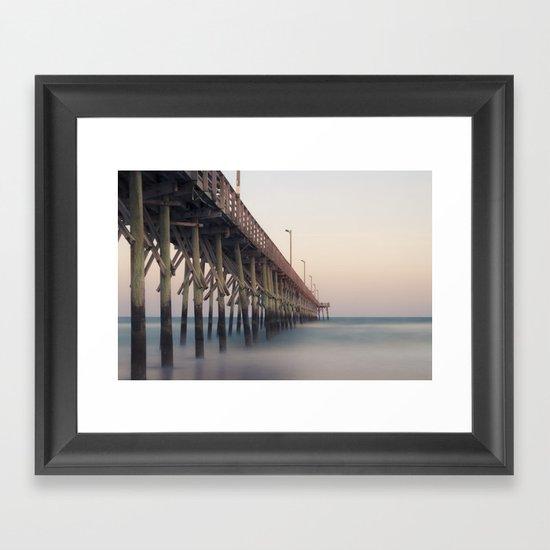 Pier at Dusk Framed Art Print