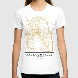 JACKSONVILLE FLORIDA STREET MAP ART T-shirt