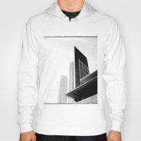 buildings Hoodies featuring City Buildings by Ewan Arnolda