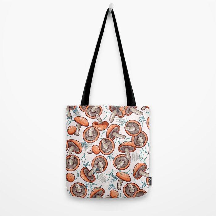 tasty shiitake pattern Tote Bag