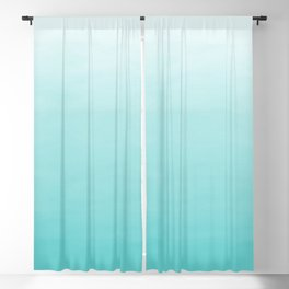 Modern teal watercolor gradient ombre brushstrokes pattern Blackout Curtain