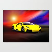 gta Canvas Prints featuring Spania GTA by JT Digital Art