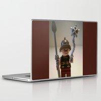 gladiator Laptop & iPad Skins featuring Gladiator 'Cracalla the Gladiator' LEGO Custom Minifigure by Chillee Wilson by Chillee Wilson [Customize My Minifig]