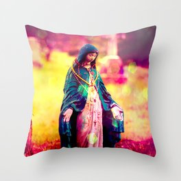 Holy Mother Bright! Throw Pillow