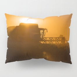 Midsummer time is harvest time of the cereal fields Pillow Sham