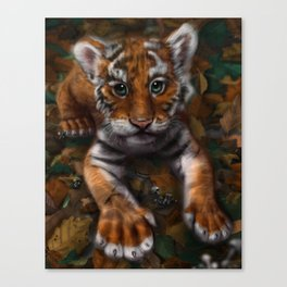 Autumn Kitty Canvas Print
