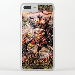 The knight and the fairy Clear iPhone Case