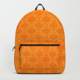 Retro Tangerine Print / Geometric Pattern Backpack
