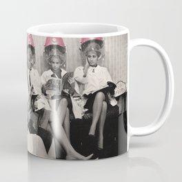 Pink Hair Dryers Vintage Coffee Mug