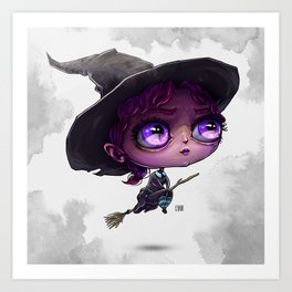 Wendy the Witch Art Print