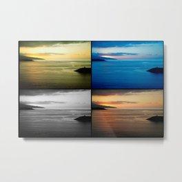 Quadriptych seascape at sunset Metal Print