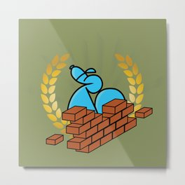 Building Bricks with Endso Metal Print