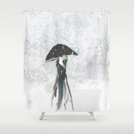 Showing Off in Emerald Shower Curtain