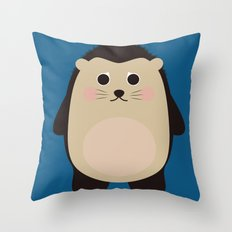 Hubert the Hedgehog Throw Pillow