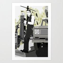 BURT REYNOLDS Art Print