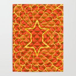 Orange trance Poster