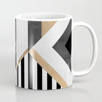 stripe Mugs featuring Stripe Combination by Elisabeth Fredriksson