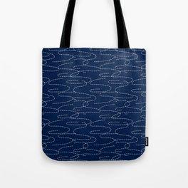 Japanese Sashiko Embroidery Stitches Pattern Tote Bag