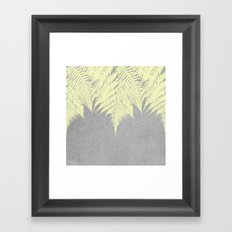 Concrete Fern Yellow Framed Art Print
