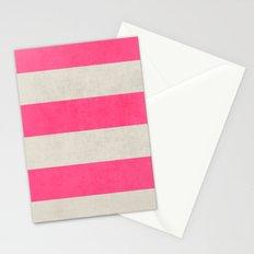 vintage hot pink stripes Stationery Cards