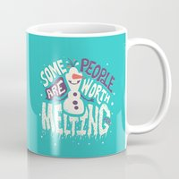 risa rodil Mugs featuring Worth melting for by Risa Rodil