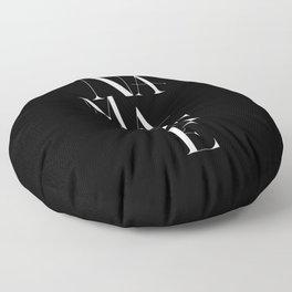 Namaste Greeting Word Black And White Floor Pillow