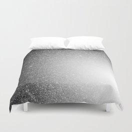 Galaxy Stars Ombre : Black Slate Gray Duvet Cover