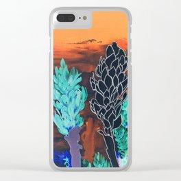 DESERT NIGHT Alpinia Purpurata Clear iPhone Case