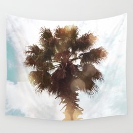 Glowing Palm Wall Tapestry