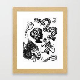 flash sheet Framed Art Print