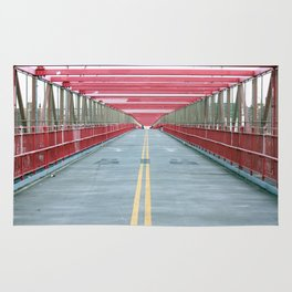 Red Railing Two Rug