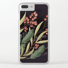 Evening Floral Clear iPhone Case