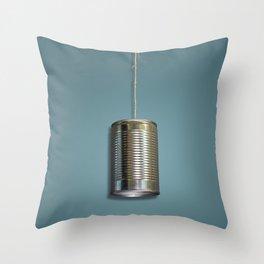 Vintage Tin Can Phone Throw Pillow