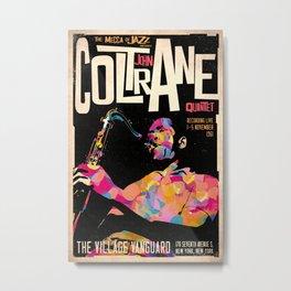 John Col-trane Retro Style Concert Poster Art Print Metal Print